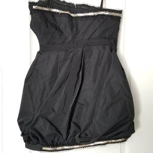 BCBG Taffeta Strapless Dress